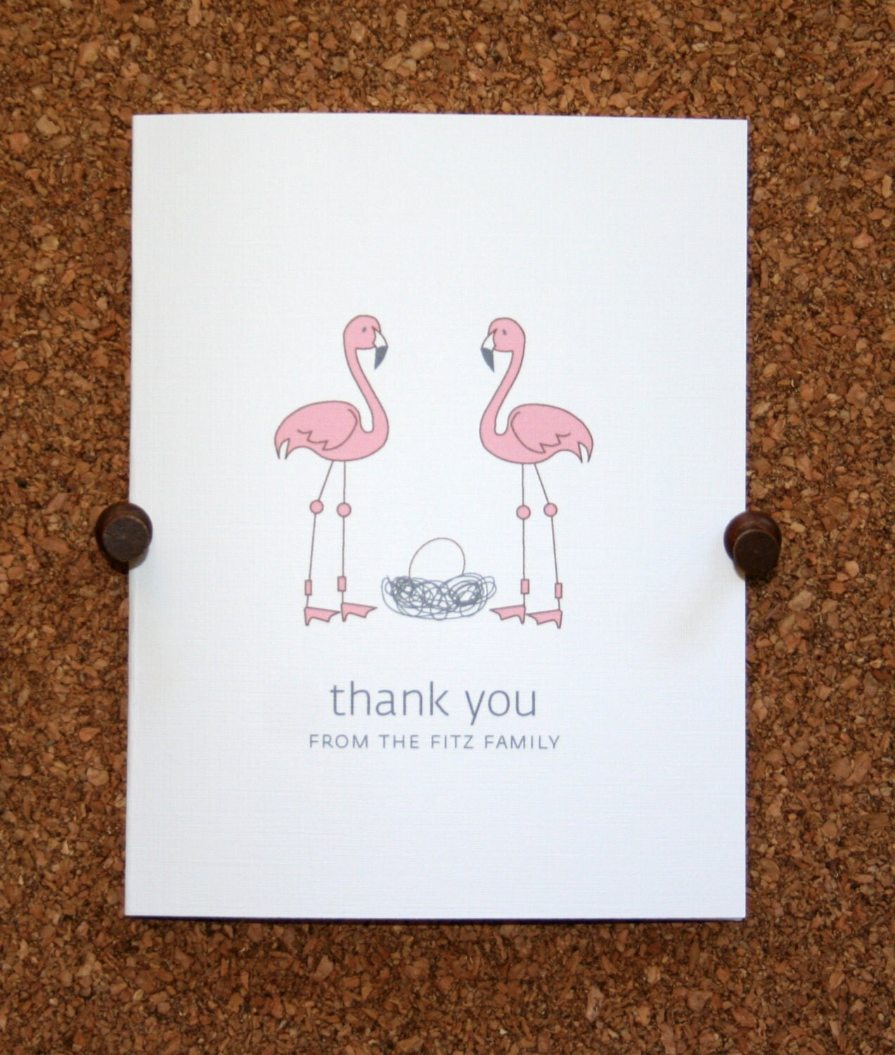 flamingo baby thank you cards baby shower thank you cards