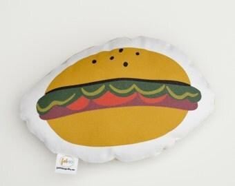 Hamburger stuffed foodie softie eco friendly baby children baby nursery home decor gift