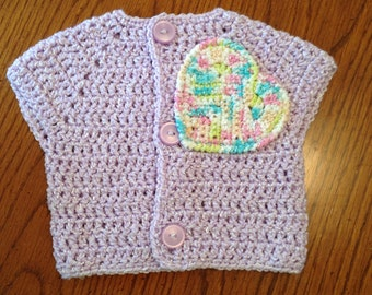 3-6 Months Purple Baby Girl Sweater
