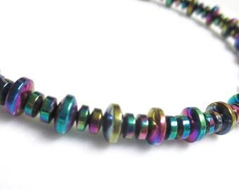 Magnetic Hematite Rainbow Bracelet