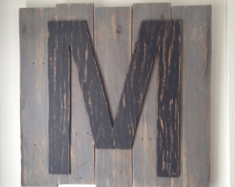 Rustic Initial Wall Decor