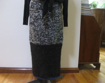 maxi knitted skirt