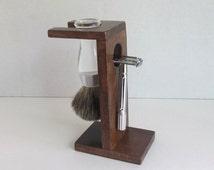 Shaving Stand for Double Edge Razor and Badger Brush holder
