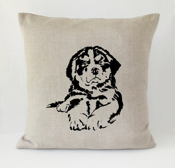 Decorative Pillow With Dog : Bernese Mountain Dog Decorative Throw Pillow Cover Irish