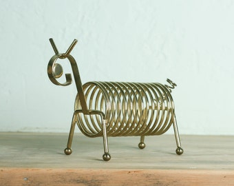 Vintage Animal Brass Coiled Letter Holder
