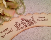 Winnie the Pooh cupcake wrappers- Pooh Birthday Party Cupcake Toppers Decorations-set of 12
