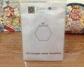 125 PCS - 3/4 inch Hexagon Paper Templates for English Paper Piecing