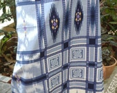 man's sarong light blue and white MB2