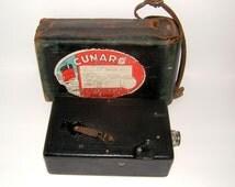 1920s Eastman Kodak Co Cine Kodak Model B with f 1.9 Lens Queen Mary Cunard Line Label Vintage Camera Vintage Photofraphy Antique Camera