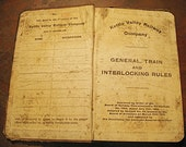 1910 Canadian Kettle Valley Railway Company Rules Book