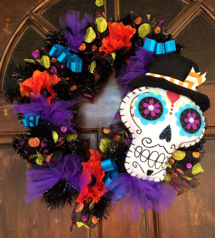 FUN Sugar Skull Wreath
