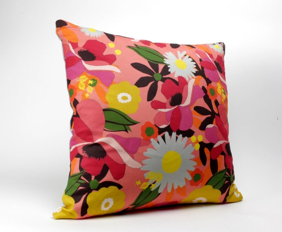 Madison Square 18-Inch Decorative Pillows : FLORAL Throw Pillows 18 inch square