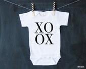 XOXO Baby Bodysuit - Valentines Day Baby Bodysuit