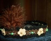 The Indian Headband.Baby headband for infants,Newborn,leather, feather,Baby headband, Headband,/Girl/Adult-Photo Prop