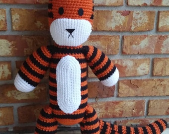 Hobbes Plush (Amigurumi)  Inspired by the Calvin and Hobbes Comic, Auburn Tiger