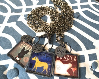 Dogs Rock Bronze Chain Keychain Layering Necklace by ZILLAS QUEEN