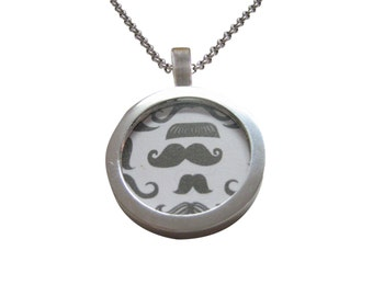 Group of Mustaches Pendant Necklace