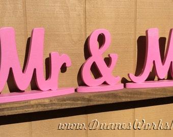MR & MRS wooden sign on bases, sweetheart table, wedding, DIY option