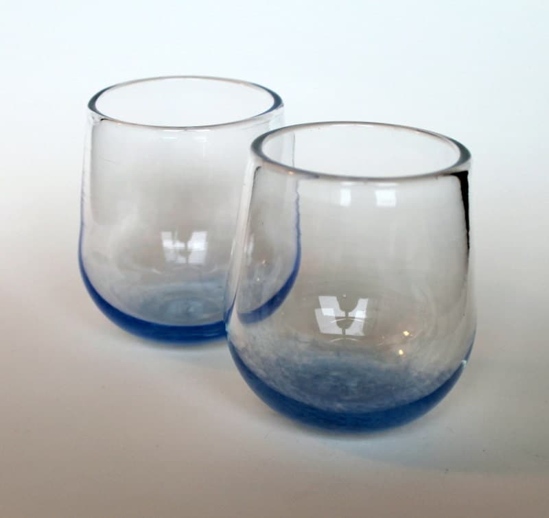 Set of two hand blown stemless wine glasses by rmasicaglassart - Hand blown stemless wine glasses ...