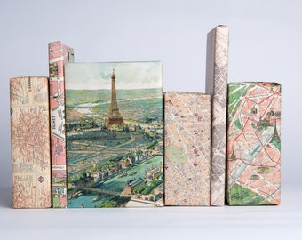 Paris Maps Gift Wrap / 12 Sheets