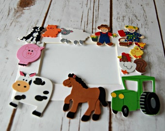 Farm Themed Craft Kit, Magnet Craft, Party Activity, Children's Crafts, Farm Picture Frame