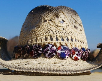 Dark Tea Stained Cowgirl Hat