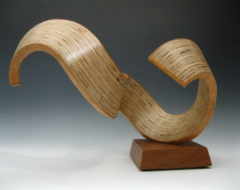 Abstract Wood Sculpture  Modern Wood Sculpture  Art