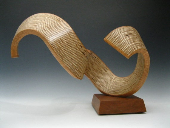 Abstract wood sculpture modern wood sculpture art - Video de sculpture sur bois ...