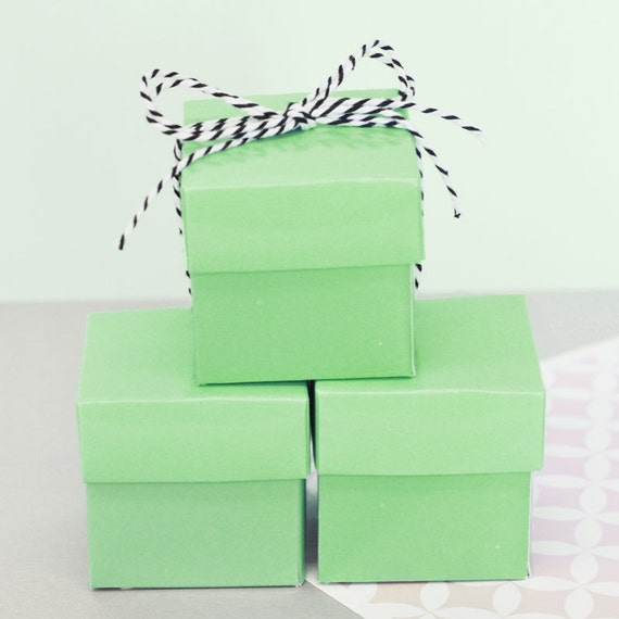 Favor boxes for birthday : Favor boxes mint green wedding favors birthday party