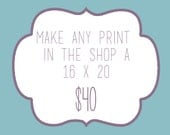 Any print in the shop as a 16x20