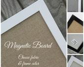 Magnetic bulletin board, framed magnet board, magnetic board, fabric magnet board, kitchen magnet board, decorative magnet board