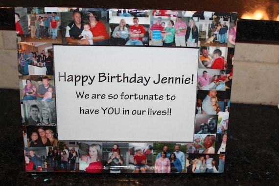 Unique Birthday Gift, Personalized Birthday Frame, Custom Birthday ...