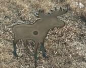 FREE SHIPPING Metal Moose Critter with metal stake