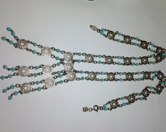 1960s Vintage Asian Turquoise Necklace  Item: 17075