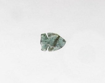 Natural Blue Sapphire, Unheated, Carved Fish, 2.62 carats