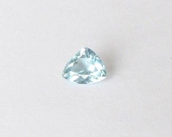 Natural Sky Blue Aquamarine, Unheated, Trillion Cut, 2.12 carats