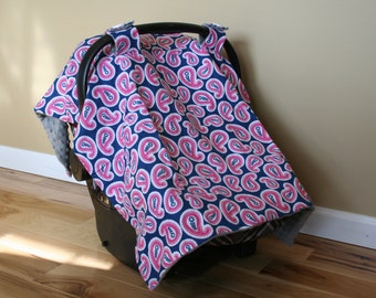 items similar to hot pink zebra graco snugride car seat cover and canopy on etsy. Black Bedroom Furniture Sets. Home Design Ideas