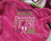 Baby Blanket, Personalized baby blanket, Block party baby blanket
