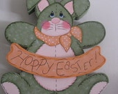 Bunny, Easter decor, Spring decor, Wall hanging, Wall decor, handpainted  wood