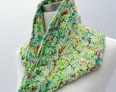 Hand knit cowl in merino wool