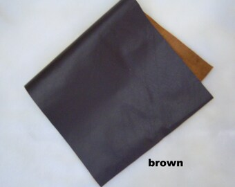 GENUINE  leather brown - dark brown leather pieces -leather skin brown