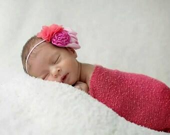pink..coral...baby girl...infant...newborn...headband...newborn headband...children...accessories