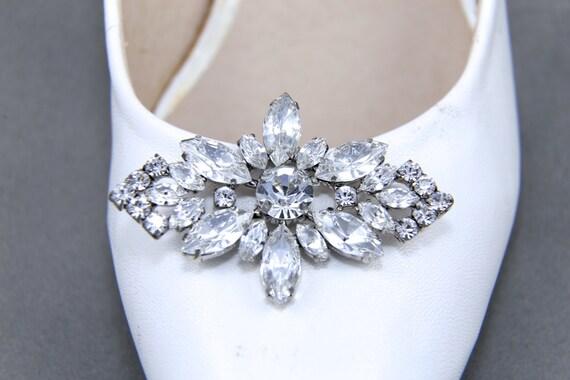 A Pair, Snowflake Shoe Clips, Wedding Shoe Clips, Crystal Shoe Clips, Aurora Borealis Rhinestone Crystal Shoe Clips, Shoes Decoration