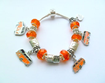 VW  Camper Vans throughout the Years Bracelet