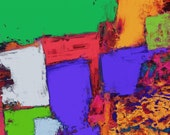 The correct place Print download Brightly coloured slabs panels blocks grouped tightly together Highly decorative modern art image picture