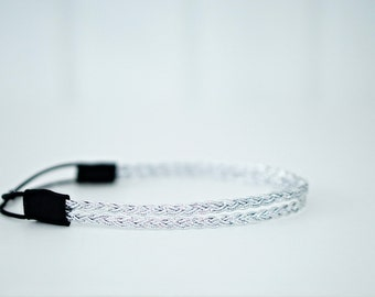 Double Strand Silver Braid Headband