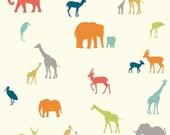 Safari Organic Baby Blanket | Safari Animal Swaddle Blanket | Receiving Blanket by JuteBaby