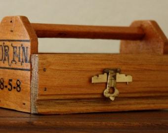 Tool Box-Wood-Altered Cigar Box-Miniature