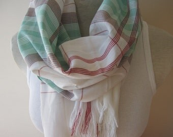 Scarf-scarves-green white red Plaid scarf Man fashion-mad- cotton men's scarf Turkey Turkish Scarf scarves2012-tartan plaid scarf