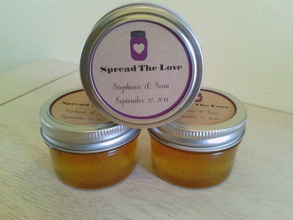 wedding favors mini mason jar jam jelly custom. Black Bedroom Furniture Sets. Home Design Ideas